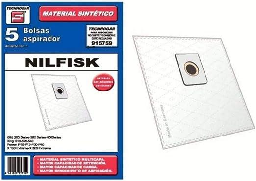 Recamania Bolsa Sintetica Aspirador Nilfisk Elite 5 Unidades ...