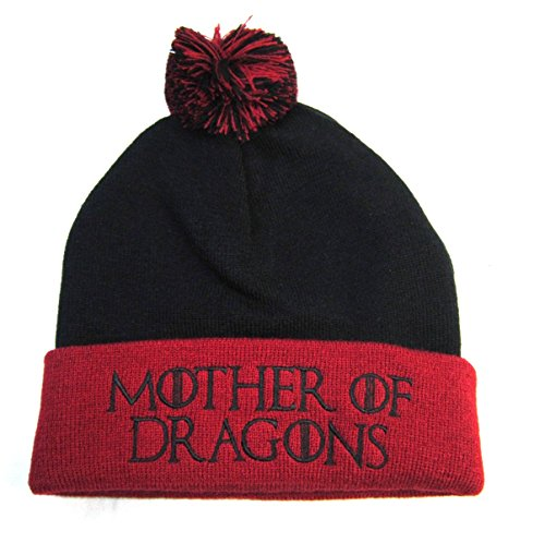 Dragon Knit Beanie (Game Of Thrones: Winter Is Here Unisex Pom Hats (Mother Of Dragons))
