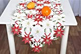 Artmag Christmas Embroidered Table Runners,Luxury
