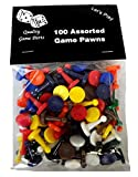 100 games - 100 Assorted Game Pawns - 10 Colors - 10 of Each Color