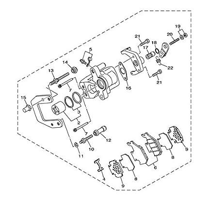 Amazon Com Yamaha 5ug2580v0200 Caliper Assembly Automotive
