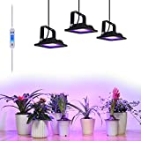 6-Pack Pro 10W Waterproof LED Plant Grow Flood Light Plug-N-Play Kit incl. Two-Way-Timer Dimmer Switch Power Supply and Cable (Full Spectrum Deep Red 660nm Blue 465nm)