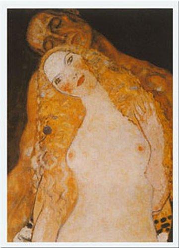 Buyartforless Adamo Ed Eva by Gustav Klimt 12x9.5 Art Print (Adamo Poster)