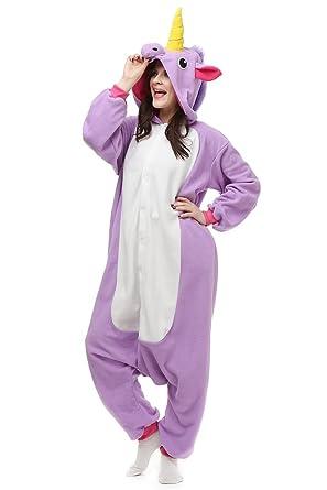 593f2c8e4 Amazon.com: OLadydress Unisex Unicorn Costumes Pyjamas, Adult Women Men  Animal Cosplay Onesie: Clothing
