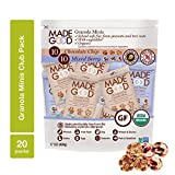 MadeGood Granola Minis Club Pack (20 ct, 0.85 oz. each); 10 Bags Chocolate Chip and 10 Bags Mixed Berry Granola Minis; School-Safe, Vegan, Gluten-Free, Allergy-Friendly, Organic, Non-GMO Snacks Review