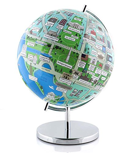 Globee Washington DC 9'' Night Lights Illuminated Globe Science Kit by Globee