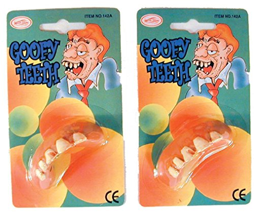 Goofy Teeth Costume #114 Fake Tooth Funny Gags Pranks Tricks Jokes Dress Up New ()