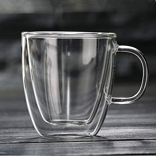 12oz2 Double-wall Borosilicate Glass Coffee Mug Cup