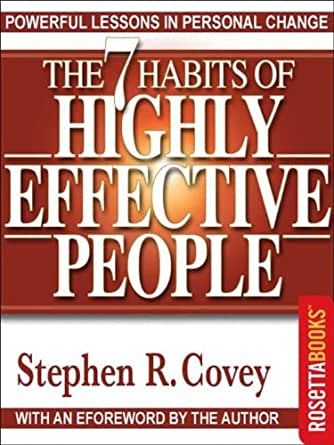 an analysis of the 7 habits of highly effective people a self improvement book by stephen r covey A critical review of the 7 habits of highly effective people self-improvement stephen covey's book the 7 habits of highly effective people was first.