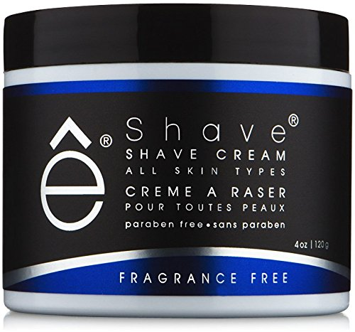 eShave Shave Cream, Fragrance Free, 4-Ounce 14000