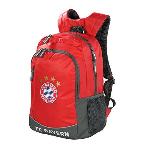 Rucksack FC Bayern MÜNCHEN rot + gratis Aufkleber München forever, Munich Tasche / sac à dos / backpack / mochila
