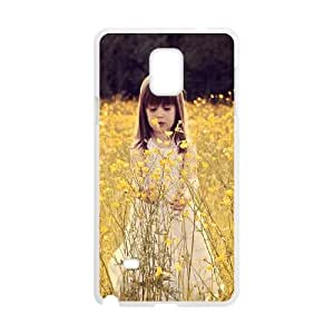 Cute Girl Samsung Galaxy Note 4 Cell Phone Case White as a gift A5851009
