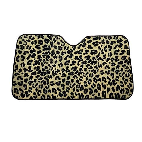 C.P.R. New Leopard Print Front Windshield Sun Shade Accordion 57