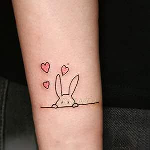 tzxdbh 10Pcs-Pegatinas de Tatuaje a Prueba de Agua Rose Gun Panda ...