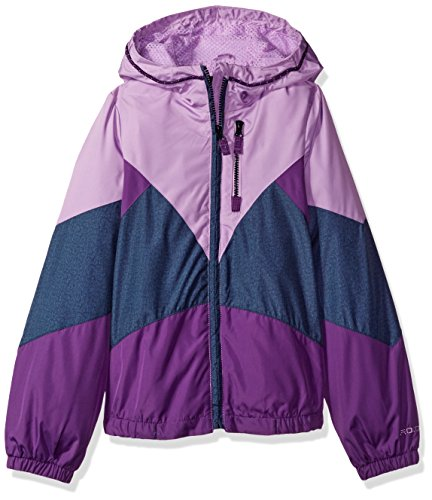 London Fog Big Girls' Sporty Lightweight Jacket, Purple/Denim, 14/16