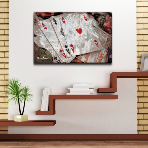 Ready2hangart Alexis Bueno 'Poker II' Canvas Wall Art - game room wall art