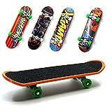 HoneyToys 5pcs Professional Mini Fingerboards/ Finger Skateboard, Unique matte surface (Random Pattern)