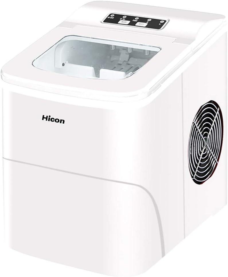 Máquina De Hielo,LMM Máquina para Hacer Hielo Máquina De Hielo De 13 Kg De Capacidad Compacta Y Rápida,con 9 Cubitos De Hielo En 6-8 Minutos Refrigeración con Control Digital para(Blanco)