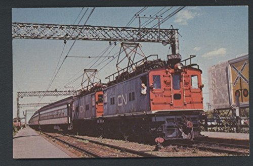 Electric Canadian National RY G.E. Box Cab Locomotive Engine Railroad Postcard