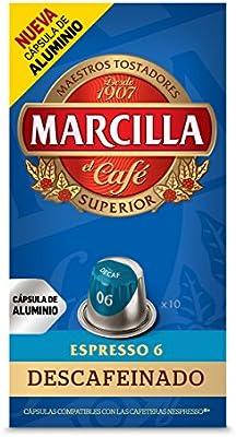 Marcilla Café Descafeinado - Intensidad 6 - 10 cápsulas de ...