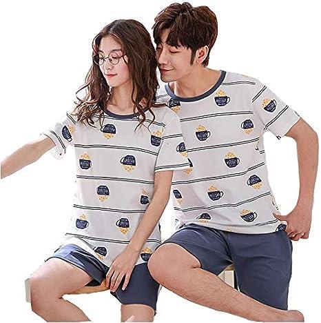 Pijamas para parejas de primavera y verano, pantalones de ...