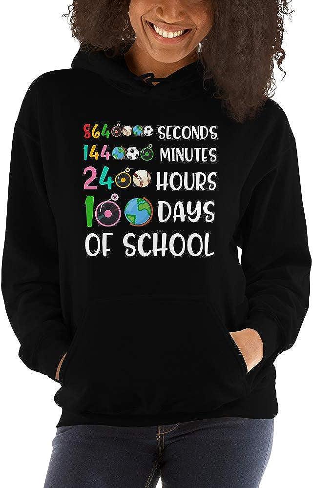 TEEPOMY 8640000 Secs 144000 mins 2400 hrs 100 Days of School Unisex Hoodie