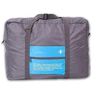 Travel Bag Lightweight Duffel Gym Bag Waterproof Foldable Portable Luggage Bag Men Women (32L, Blue)