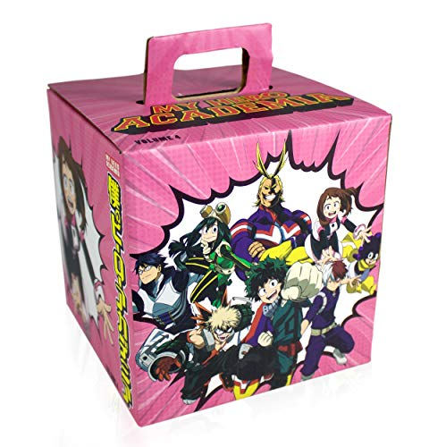Toynk My Hero Academia LookSee Mystery Gift Box | Includes 5 Official Boku No Hero Collectibles | Includes Wall Art, Enamel Pin, & More | Ochaco Pink Edition | Collect All 4