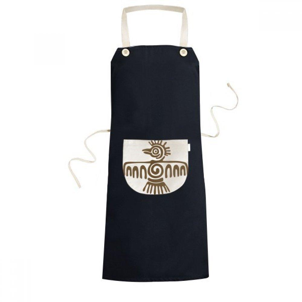 メキシコTotemsメキシコBald Eagle Ancient Civilization料理キッチンブラックよだれかけエプロンポケット付きレディースメンズシェフギフト   B071ZS5M6C