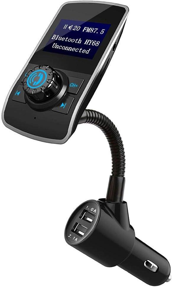 Beaums HY68 Bluetooth Manos Libres para Coche Reproductor de MP3 USB inalámbrico Dual Auto Transmisor Reproductor de música