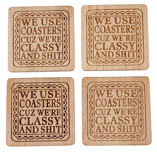 Drink Coasters, Square Fun Coasters, Funny Coasters for Drinks, Funny Housewarming Gifts for New Home, Hostess Gifts for Women, Best Housewarming Gifts ()