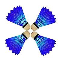 Eastlion 4 PCS LED Leuchten Badminton Federball Kunststoff Glow Birdies für...