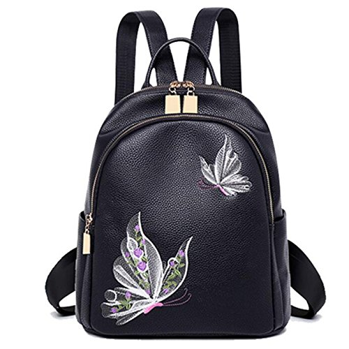 Hgdr sac à dos de voyage en cuir d'unité centrale avec petit motif de fleur