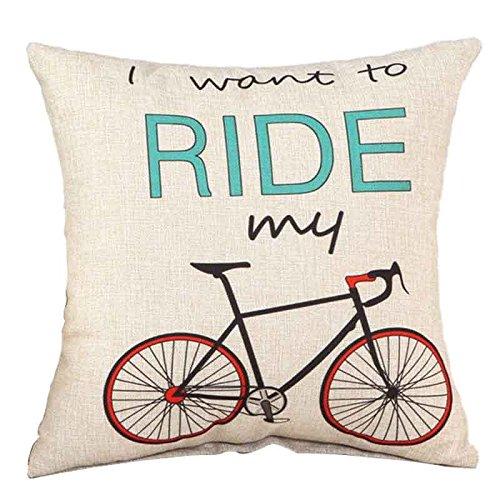 Bicicleta patrón funda de almohada - SODIAL (R) sofá ...