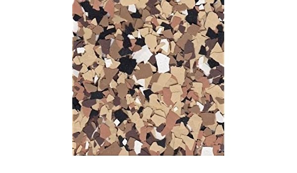 Vinyl Chip Blend B-716 Creekbed 1//4 American Abrasive Supply VCPBB716