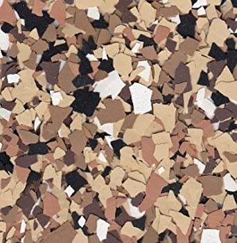 American Abrasive Supply Vinyl Chip Blend B-715 Nightfall 1//4 VCPBB715