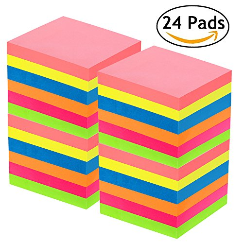 Sticky Notes 3x3, 24 Pads, 70 Sheets/Pad, Colorful Self-Stick Notes for Home, Office