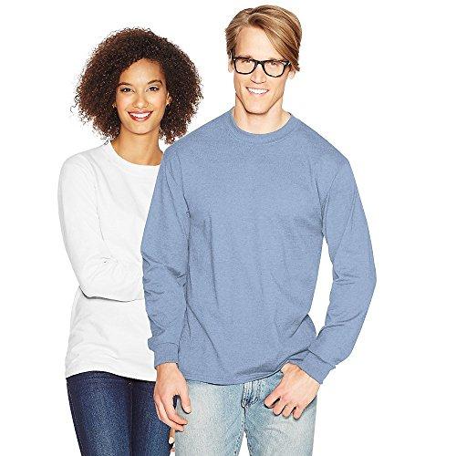 Hanes Adult Beefy-T Long-Sleeve T-Shirt_Light Blue_XL
