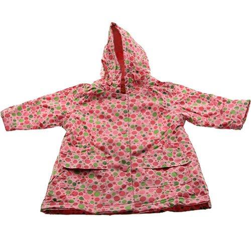 Pluie Pluie Girls Outerwear Pink Polka Dot Unlined Raincoat 12M-8