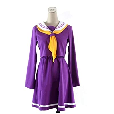 HOT Anime COS White Shiro No Game No Life Cosplay Sailor Suit Costume Student Uniform: Clothing
