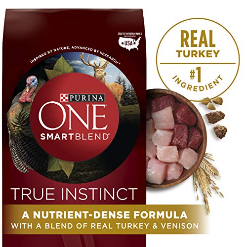 Purina ONE High Protein Natural Dry Dog Food, SmartBlend True Instinct With Real Turkey & Venison - 27.5 lb. Bag (Purina One Grain Free Dog Food)