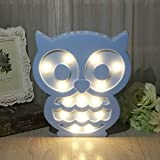 SYlive Novelty Animal LED 3D Night Light - Owl Decoration Children's Room Bedside Lamp Kids Toy