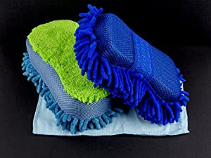 Car Wash Sponge: BlizeTec 2 Stylist Microfiber Cleaning Car Scrub Pad and Towel