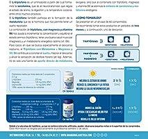 Ana Maria Lajusticia - Triptofano con melatonina + magnesio + VIT B6 – 60 comprimidos. Induce al sueño y mejora la calidad del sueño. Apto para ...