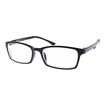 Amazon.com: 1 PR Black Frame Shortsighted Myopia Glasses w Case ...