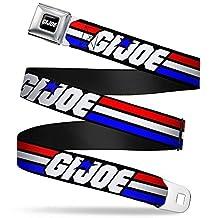 Gi Joe Stripe Logo Full Color Black Red White Blue Gi Joe Stripe Logo Black Seatbelt Belt Kids