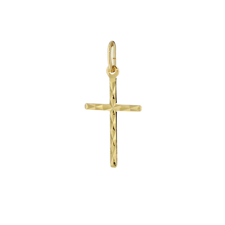 Petite Croix Pendentif Femme Or Jaune 333//1000-10 x 17 mm NKlaus 7802
