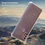 Lustree Motorola Moto G10 Power Case Cover Protective + [Bumper] CASE, Moto G10 Power Back Cover Case – Transparent Case