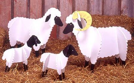 A Woodworking Pattern and Instructions Pkg to Build Your Own Sheep for the Meadow (Sheep Pattern)