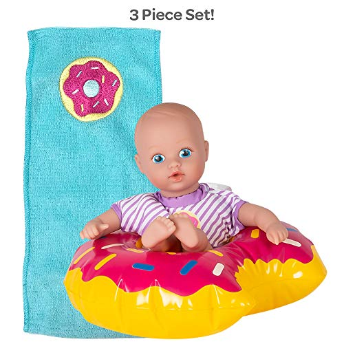 Adora Water Baby Doll, SplashTime Baby Tot Sprinkle Donut 8.5 inch Doll for Bathtub/Shower/Swimming Pool Time Play